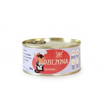 dziczyzna - konserwa dla kota - 300 g
